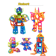 80-252 шт. Мини Магнитный конструктор Construction Set модель здания игрушка Пластик магнитных блоков развивающие игрушки для детей подарок