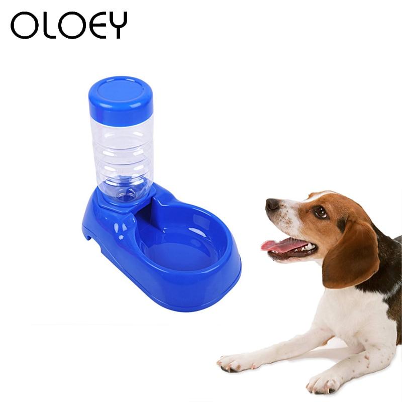 400ml Pet Dog Cat Food Water Dispenser Bottle Utensils Plastic Feeder Bowl Cat Drinking Fountain Dish Bowl For Dog Pet Supplies