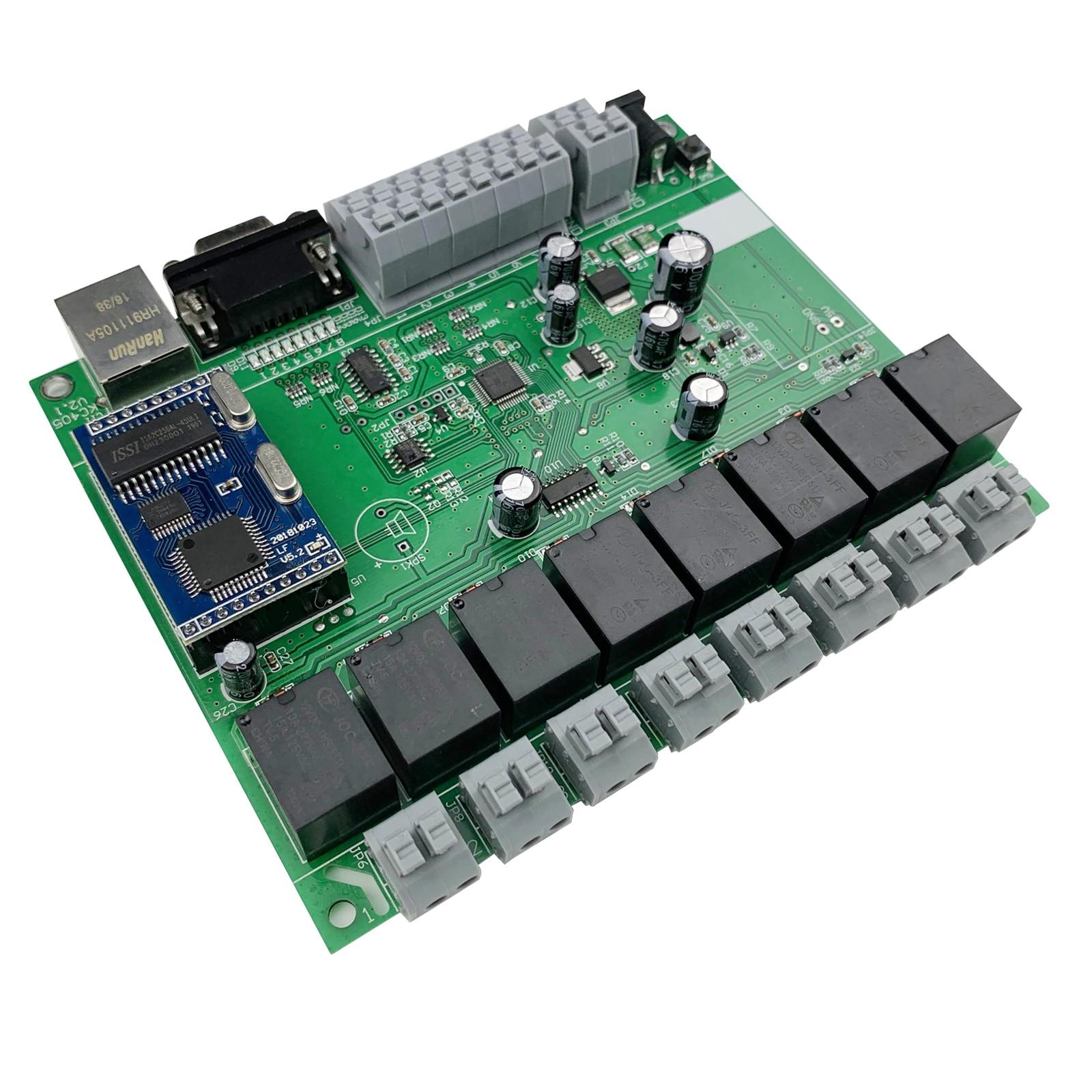 8 Channel Ethernet Relay Module With GPIO Lan Wan Network RJ45 RS232 TCP IP Program Development