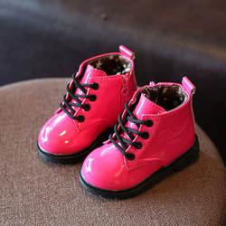 Детская обувь, сапоги для девочек, осень и зима, новые детские зимние сапоги, бархатная хлопковая обувь, ботинки martin для мальчиков, короткие