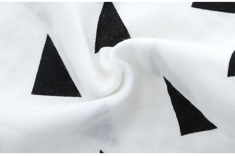 White Series 5pcs/lot Newborn Baby Saliva Towel Gauze Fabric Bib Unisex Letter Geometry Pattern Burp Cloths