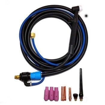 10 teile/satz 200A WP 17V Wig-schweißen Kopf Taschenlampe Werkzeug Flexible Kopf Mit Gas Ventilen 35/50 4M Taschenlampe kabel Länge