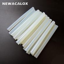 NEWACALOX 20Pcs/Lot 11mm X 130mm Clear Glue Adhesive Sticks for Hot Melt Glue Stick for Glue Gun Car Audio Craft Alloy