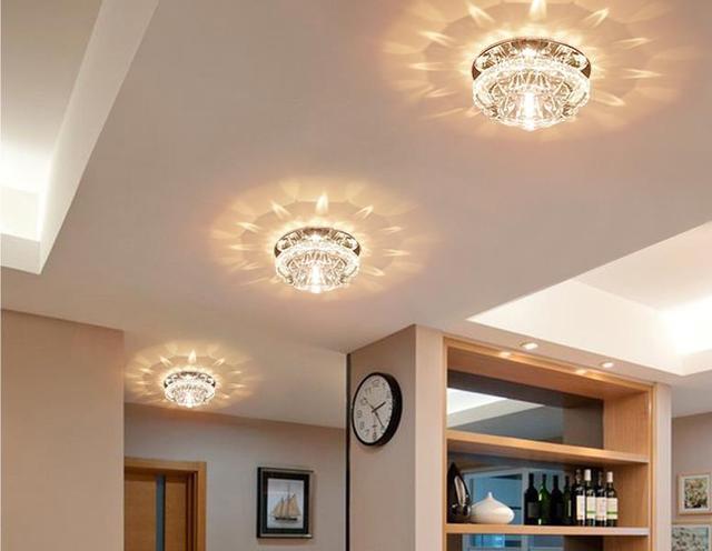 W camera da letto soffitto di cristallo led lampade per la casa