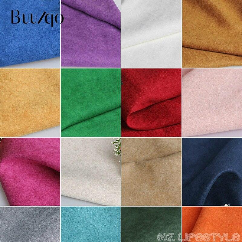 Замшевая ткань с шифрованием Buulqo, фланелевый материал, ткань для дивана, пальто, одежды, ткань для ручной подкладки на задник