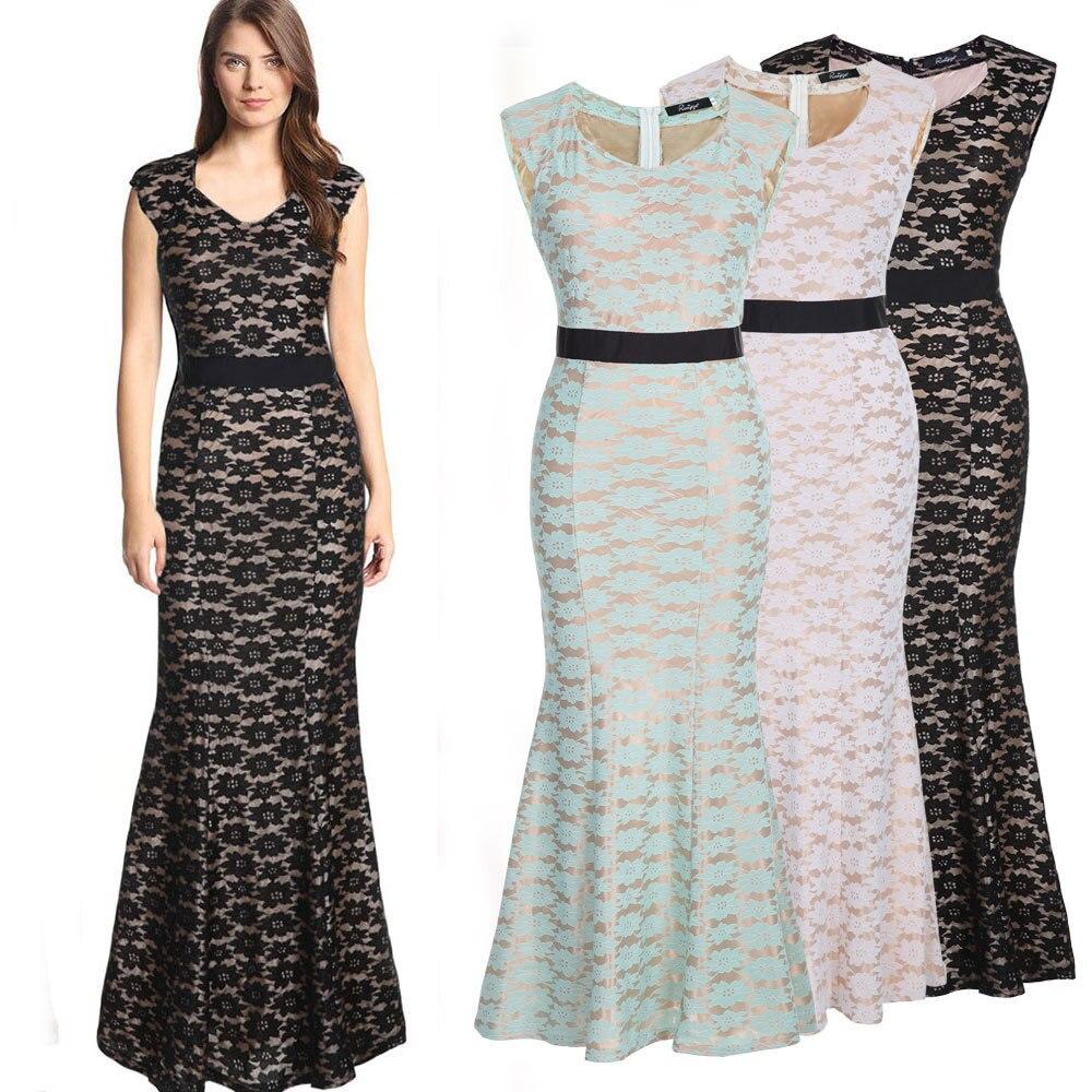 2015 Spring Summer Womens Sexy Sleeveless Lace Maxi Dress Fashion Party  Bodycon Long Dresses Evening 1d203e3e9630