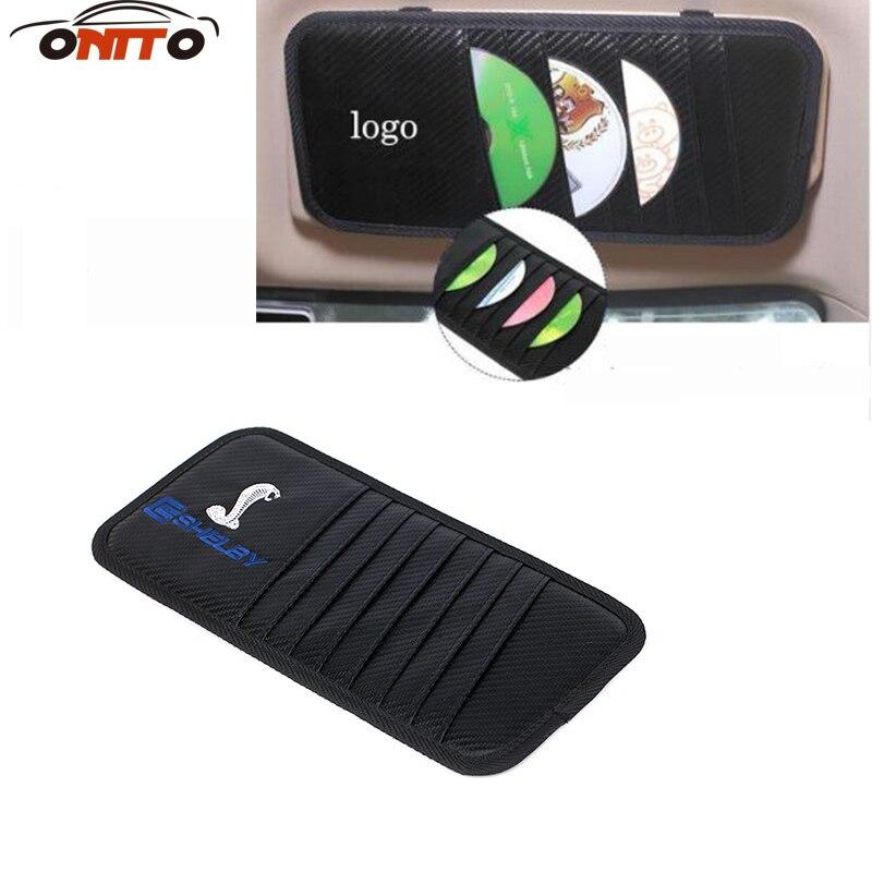 Car styling 1pcs Car Visor Storage CD/DVD Black Pocket Case Organizer Hold