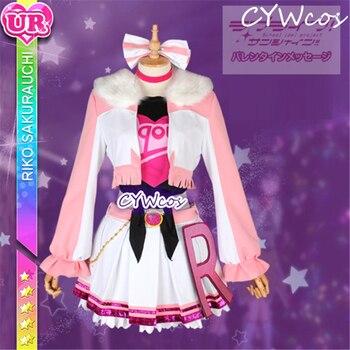 Anime Love Live Sunshine Aqours Miracle Wave Sakurauchi Riko Cosplay Costume Uniforms Halloween Costumes Suits Top+Coat+Skirt