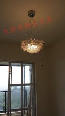 Geschenk NEUE Personalisierte aluminium 40 cm 5 G4 draht vogelnest pendelleuchte lampe leuchte bedroon esszimmer ZL4698 - 2