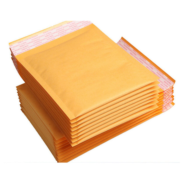 30pcs 23 sizes wholesales golden kraft bubble mailers bagsyellow small kraft bubble padded envelope