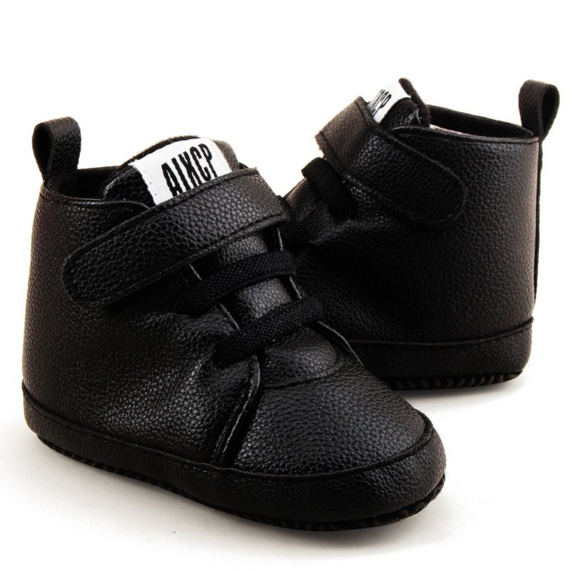 Autumn Winter Toddler Newborn Shoes First walker Pu Leather Fashion Baby Kids Boy Girl Soft Sole Canvas Sneaker 0-12Months