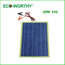 Eco Worthy 20W Epoxy Solar Panel High Efficiency for 12V Battery Charger solar charger solar panel
