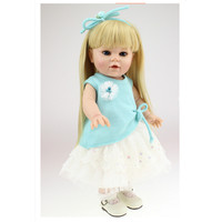 European Fashion 40 CM Silicone Girl Doll With Clothes 16 Inch Lifelike Princess Dolls Toys For