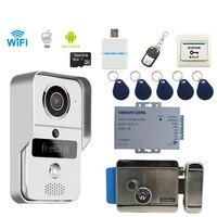 JEX Smart WiFi Doorbell Wireless Video Door Phone Intercom Kit Smartphone View Unlock IOS Android Electronic