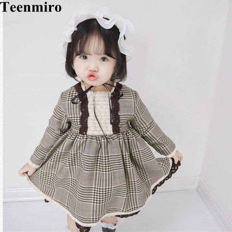 Cute Baby Dress for Girls Spanish Princess Party Dresses Children Dress 2018 Autumn Girl Pink Robe Fille Kids Clothing girls lace flare sleeve christmas princess dress kids dresses for girls dress kids party dresses children clothing robe fille