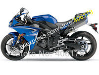 Hot Sales,For YAMAHA 2009 2010 2011 YZF R YZF R1 YZFR1 09 10 11 YZF 1000 fairing Blue black bodywork kit (Injection molding)