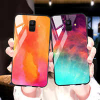 Case for Samsung Galaxy J8 J6 J4 2018 J7 C7 2017 Cases Star Space Tempered Glass Phone Cover for Samsung J2 Prime Core Pro 2018