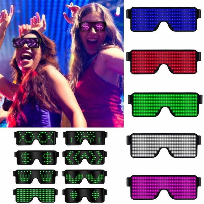 7a1f6003ac 8 modos de Flash rápido USB Led gafas de fiesta de carga USB luminoso gafas  Concierto