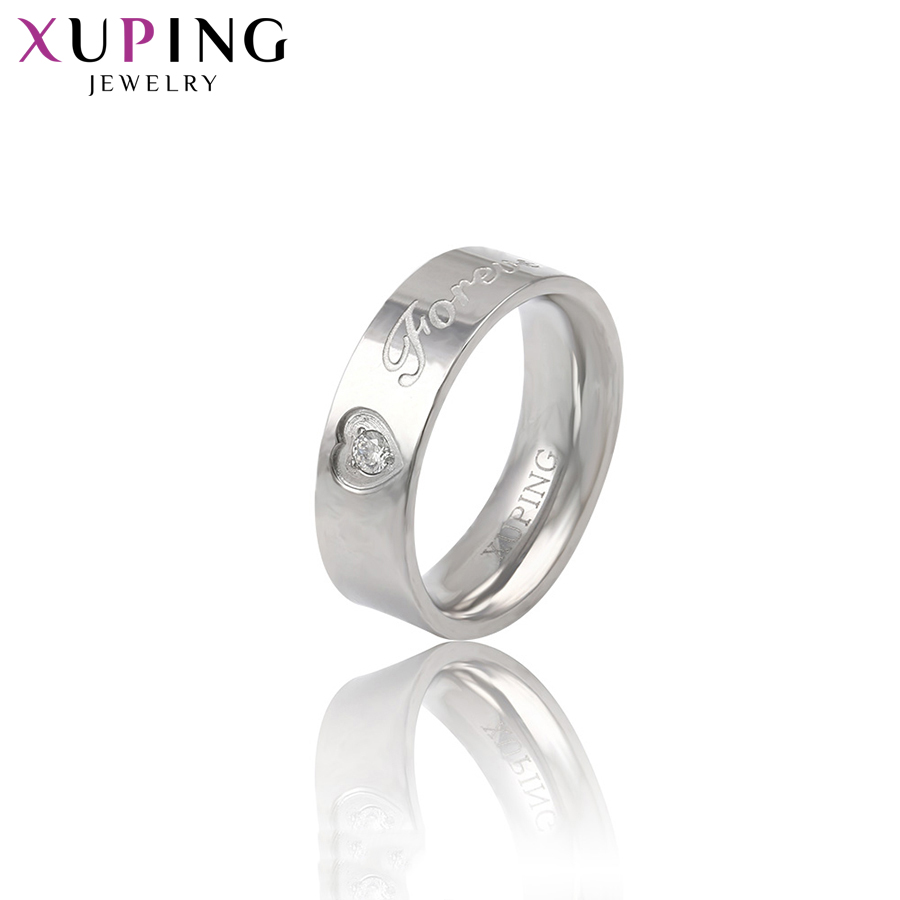 11.11 Deals Xuping Fashion Love Romantic Rings for Ladies Stainless Steel JewelryAnniversary Mother's Day Gift S176.2-13972 image