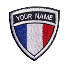 Custom Embroidery France Name Patch, 2 pcs Personalized Military Number Tag  Customized Logo ID For Multiple Clothing Bag