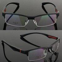 Vazrobe Sport Style TR90 Eyeglasses Frame Men Semi Rimless Eye Glasses Frames For Male Custom Make