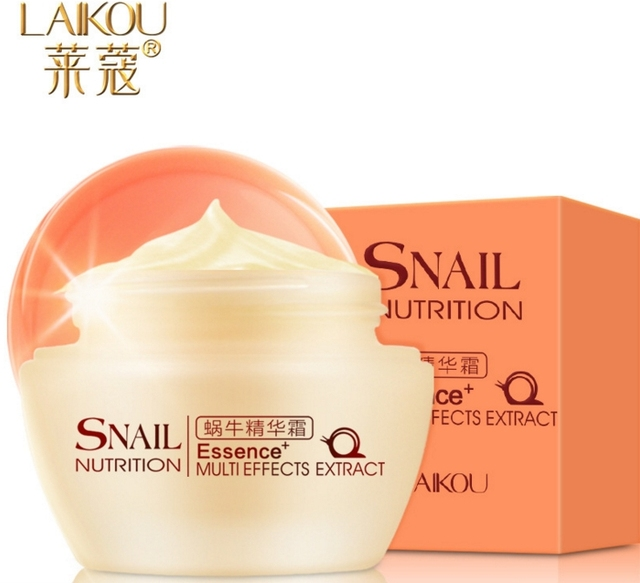 LAIKOU hidratante Crema de Caracol Esencia 50g Eliminar Las Cicatrices Del Acné antiarrugas Reafirmante para blanquear cuidado de La Piel crema