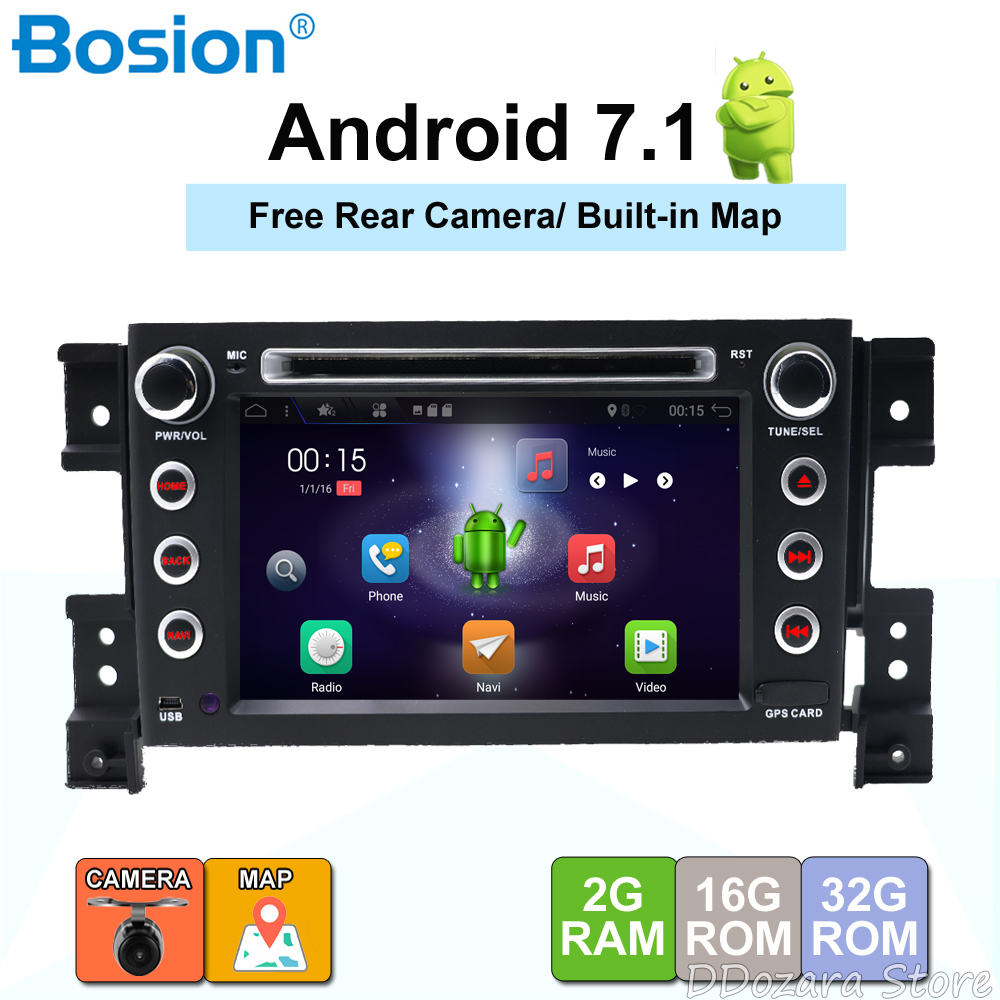 4 Core 2Din Android 7.1.1 Car Stereo Radio DVD GPS Navigation For Suzuki Grand Vitara 2005-2011 Car Audio Video Player