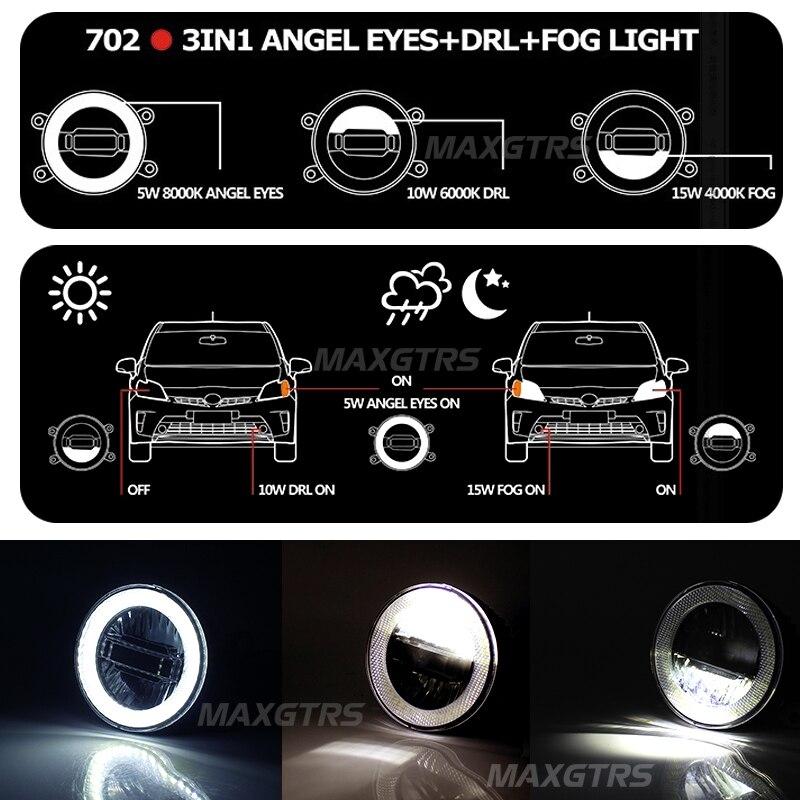 2x Универсальный 3,5 дюймов Автомобильный светильник светодиодный ангельские глазки дневной ходовой светильник DRL автомобильный противотуманный светильник в сборе противотуманная фара для Nissan Mitsubishi