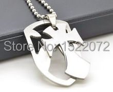 The most popular best-selling Stainless Steel Nice Shield  Dog Tag Pendant Chain Necklace Jesus FH890166