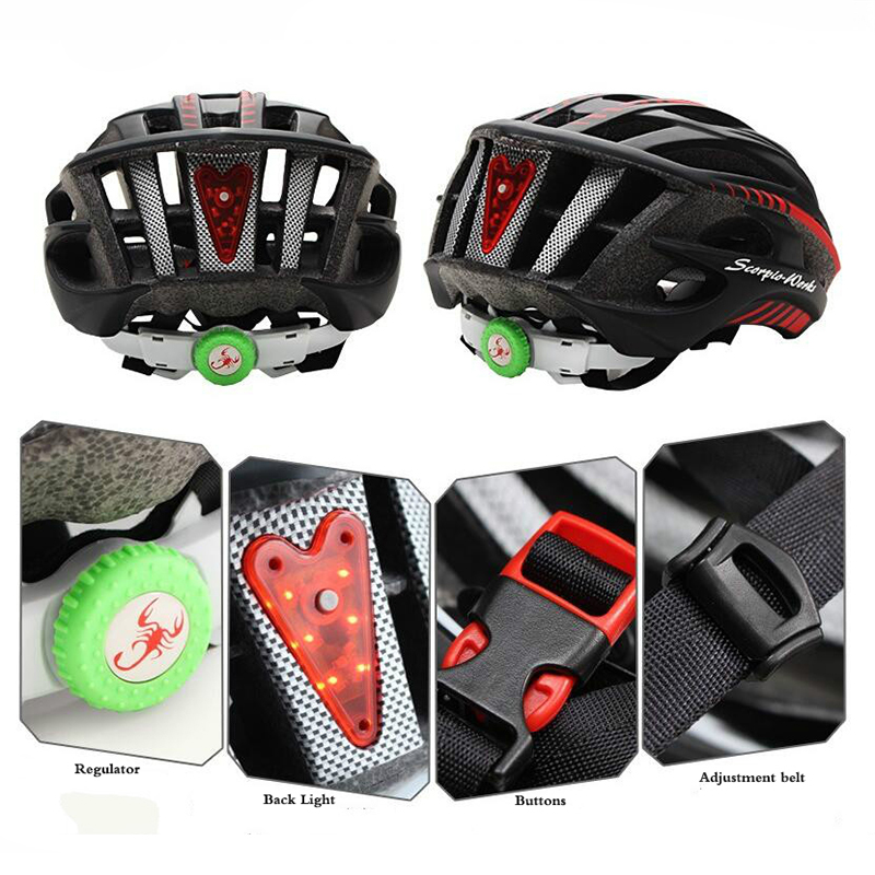 Сверхлегкий интегрального под давлением велосипедный шлем 36 вентиляционные отверстия дорога велосипед шлем с подсветкой для ночного для в...