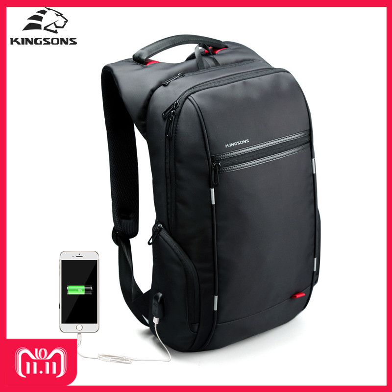все цены на Kingsons KS3144W 15.6'' Men Women Laptop Backpack Whit Usb Cable Waterproof Wear-resistant Leisure Travel Shcool Bag Backpacks