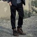 Mens roupas clube ak calças militares dos homens da marca do vintage casuais calças de comprimento total calças de algodão em linha reta calças dos homens khaki 1512054
