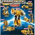 Aleación De Metal Combinación de Vehículos de Ingeniería Hércules Deformación Optimus Prime Transformación Robots Coche Figura de Acción Del Anime