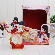Free shipping 19CM Figuarts Zero Sailor Moon Mars Hino Rei 20th Anniversary PVC Action Figure Model Toy Sailor Moon Figure