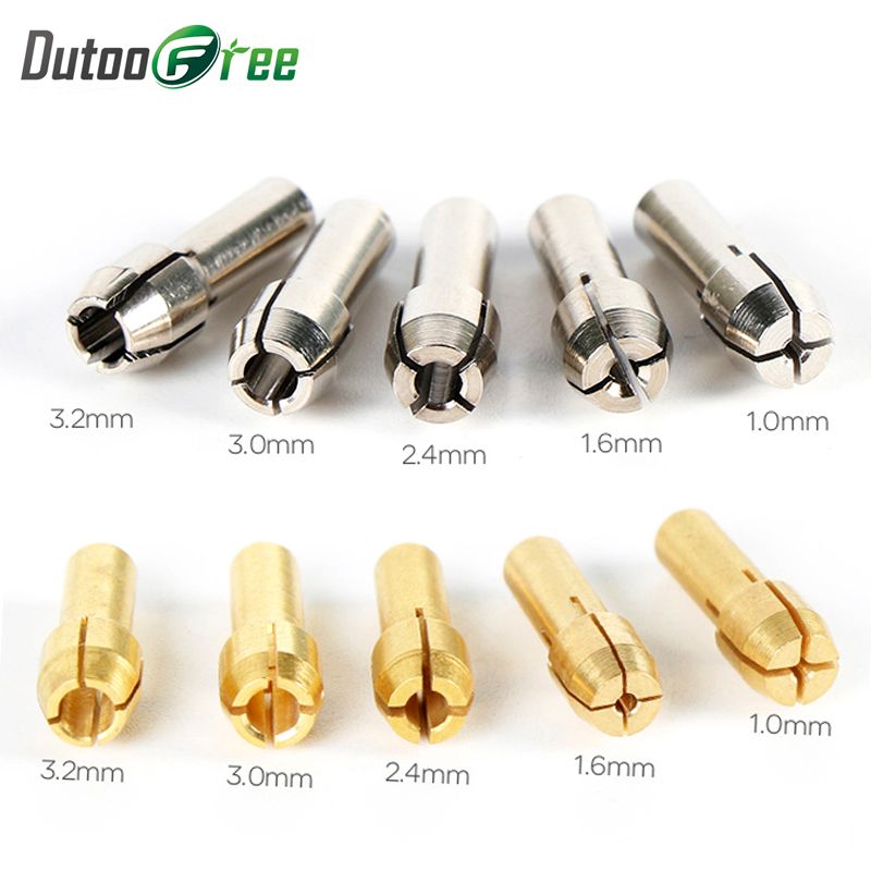 Power Tools Mini Drill Brass Collet Chuck For Dremel Rotary Tool Diy Drill