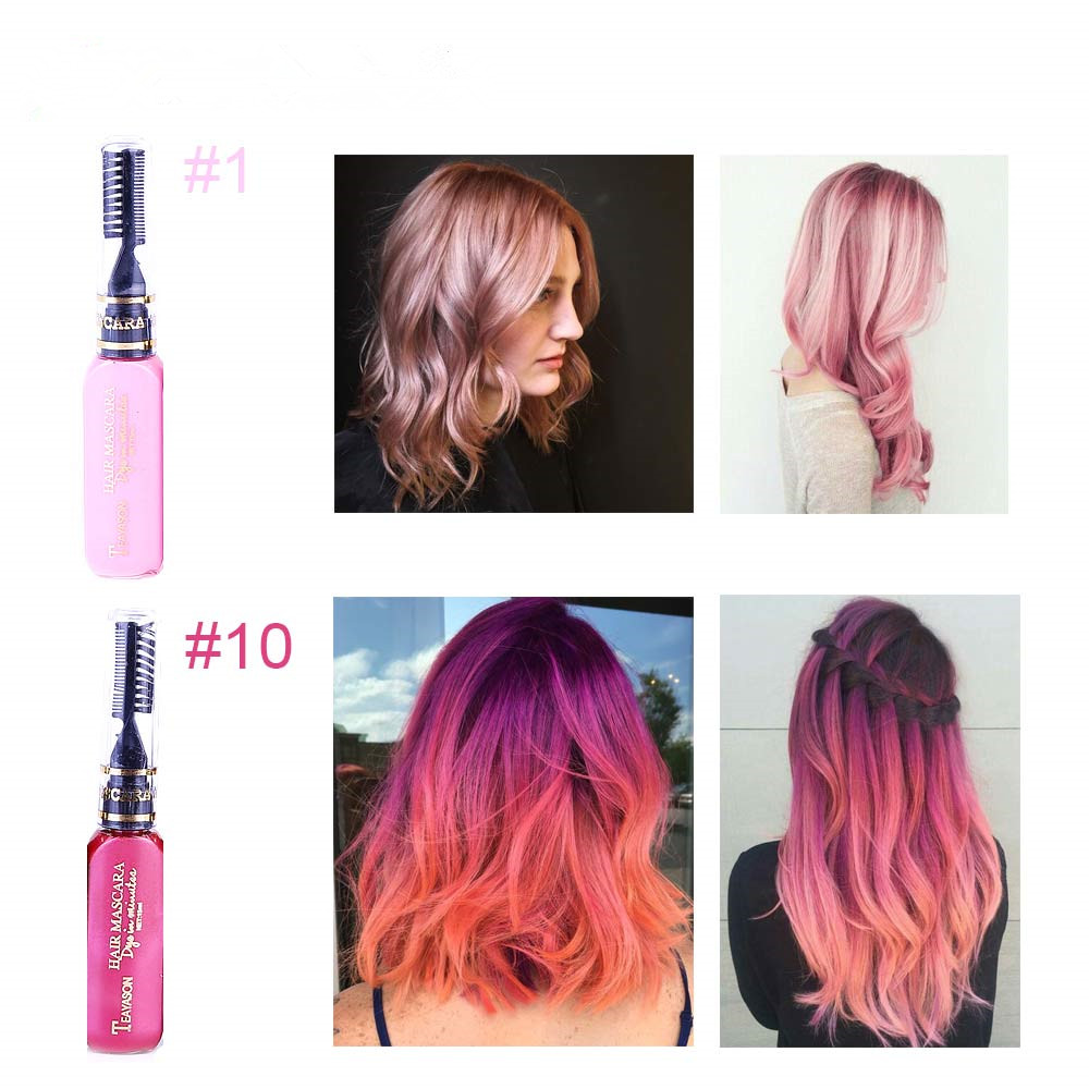 13 Colors One-off Hair Color Dye Temporary Non-toxic DIY Hair Color Mascara Washable One-time Hair Dye Crayons 4