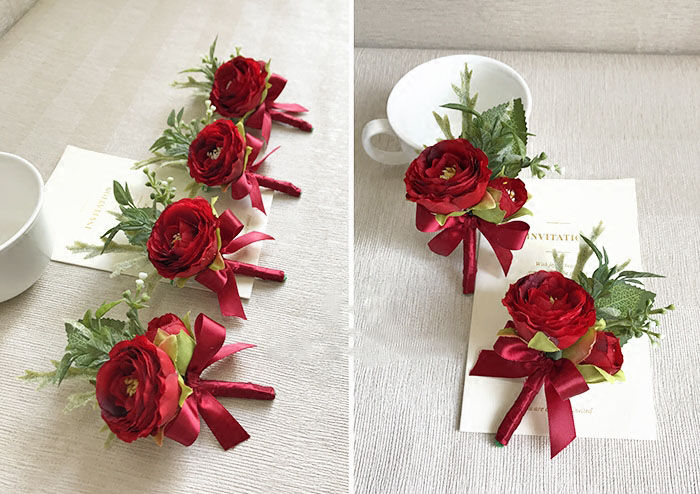 wedding wrist corsage boutonniere marriage  (15)