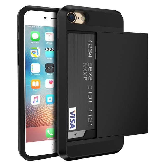Kisscase Cool Slide Case For Iphone 5s 7 8 Plus Card Holder Phone