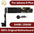 64GB/256GB für iphone 8 plus motherboard Mit voller Chips  original entsperrt für iphone 8 plus logic Boards Mit touch Id-in Handy-Flex-Kabel aus Handys & Telekommunikation bei