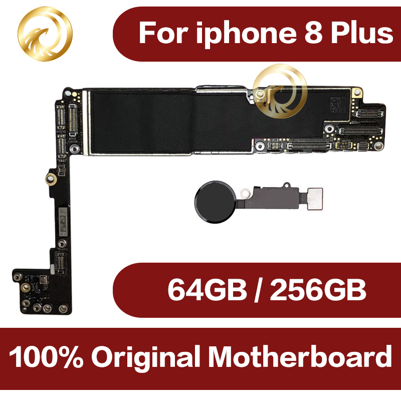 64GB/256GB For Iphone 8 Plus Motherboard With Full Chips,Original Unlocked For Iphone 8 Plus Logic Boards With Touch ID
