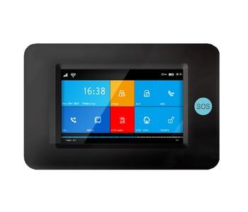 لمس كاملة شاشة 3g gsm wifi جي بي آر إس الذكية المنزل الدخيل إنذار مكافحة سرقة الأمن الرئيسية 3g سيم بطاقة واي فاي نظام إنذار ضد السرقة