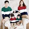 hoodies	mommy and me clothes	fashion	mother father baby	cotton	family matching outfits	full sleeve	striped	0720