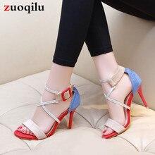 Г. Новые сандалии женские летние сандалии на высоком каблуке с открытым носком, сандалии-гладиаторы обувь на высоком каблуке женские сандалии