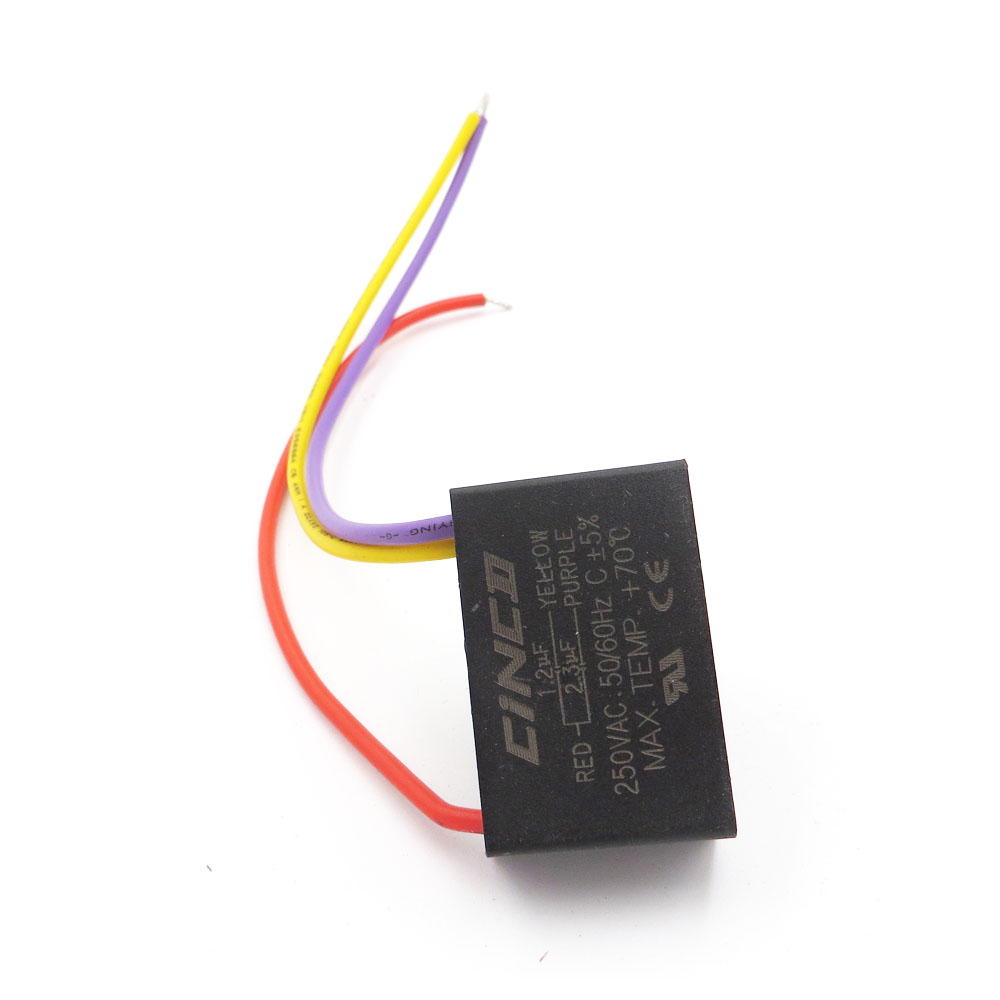 hight resolution of cbb61 1 2 2 3uf 250v 3 wires motor run capacitor electrical fan 3 speed electric fanners electronic fan regulator cable 250vac in ac motor from home