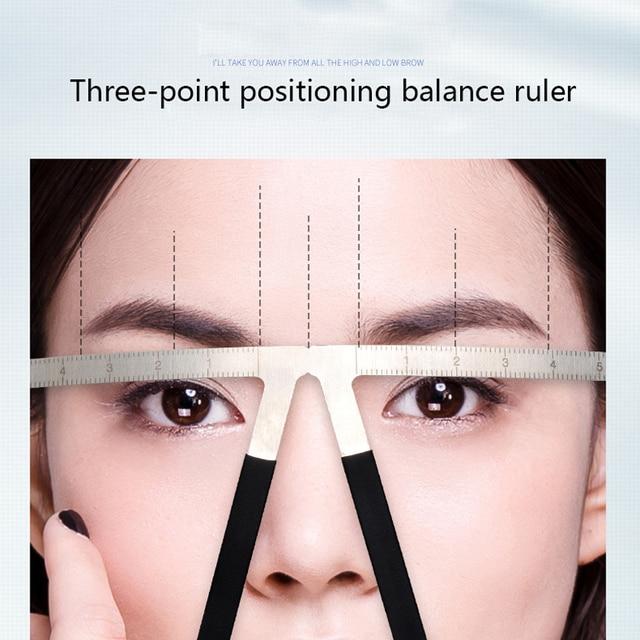 Reusable Eyebrow Stencils Microblading Tattoo Eyebrow Measure Ruler Beauty Makeup Tool Grooming Drawing Eyebrow Template Stencil 1