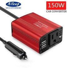 Aileap автомобиля Мощность Инвертор автомобильный Зарядное устройство 150 Вт DC 12 В до 110 В переменного тока инвертор автомобиля с 3.1A двойной USB Зарядное устройство