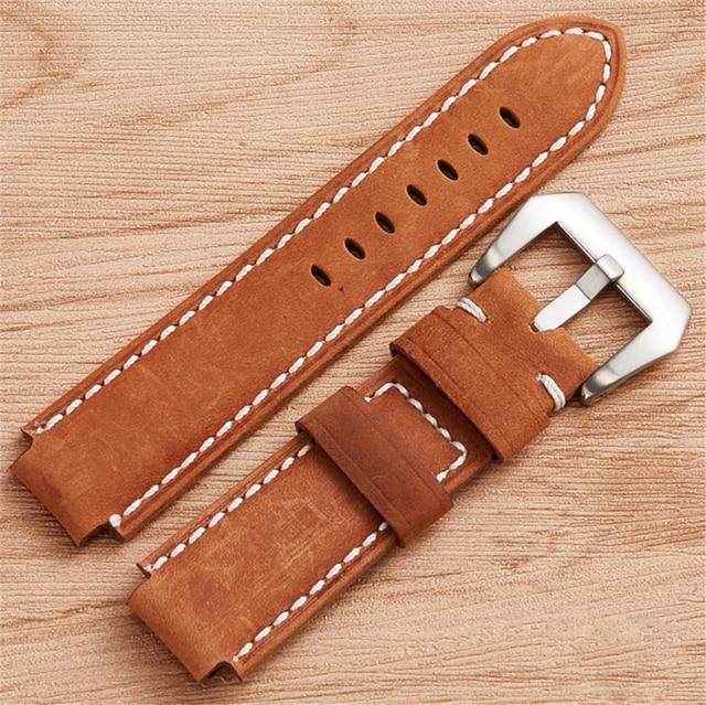 e8a755fe705c Aliexpress.com   Buy Quality Genuine Leather Wrist Watch Strap for ...