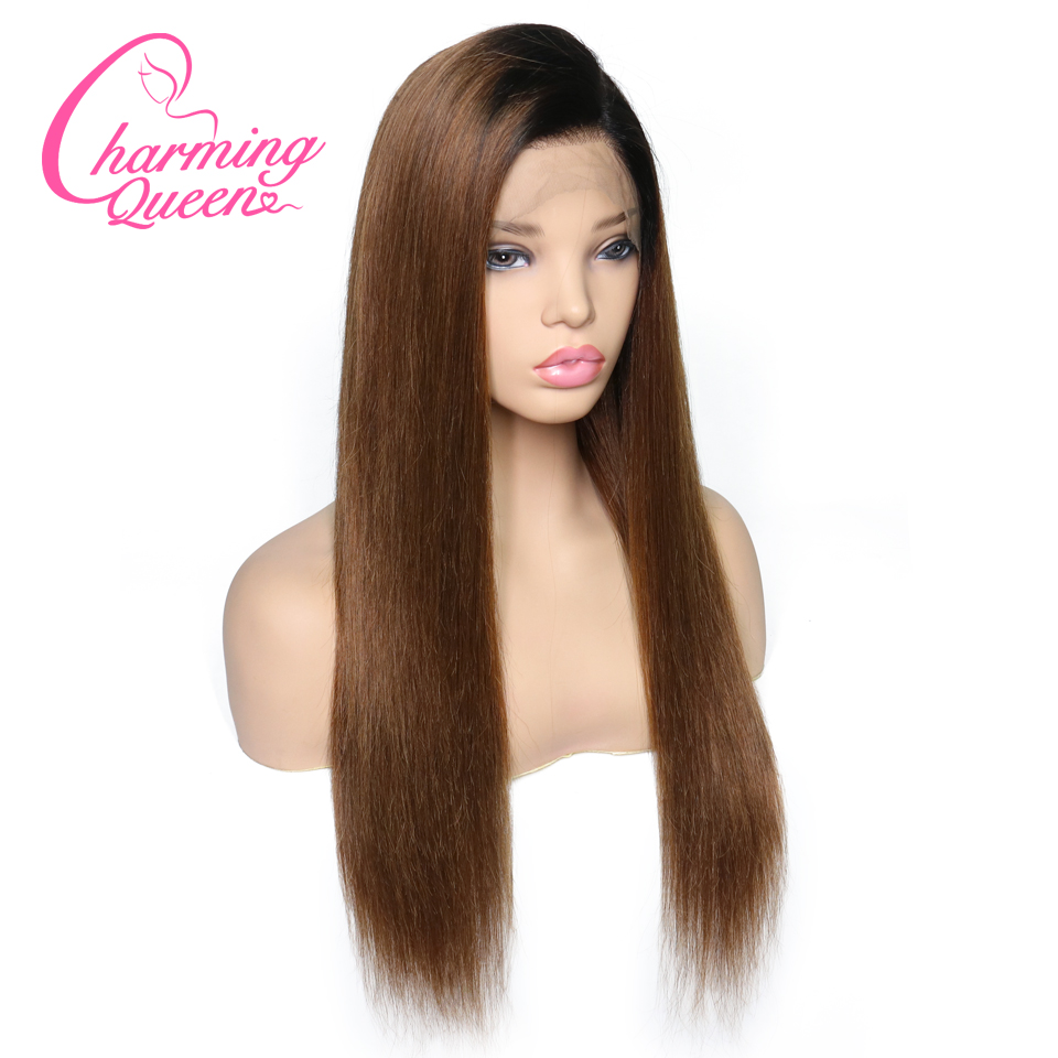 Straight Lace Front Human Hair Wigs For Black Women 1B 30 Ombre Brazilian Remy Hair 13