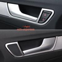 Matt cromo 4 piezas Interior cubierta de la manija de la puerta de marco para Audi A4 B8 A5 4dr