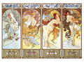 2000 pcs/set Museum Collection The Famous Painting of World Mucha Four Seasons High Quality Puzzle Best For Child